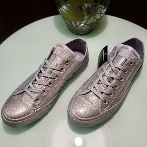 Converse Shoes - Converse Chuck Taylor All Star Lo Glitter Silver